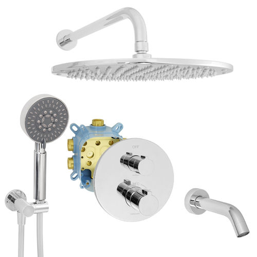 Welfenstein Thermostat Unterputz-Set EBT-R22W Regendusche Wanne